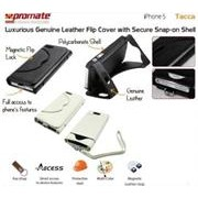 Promate Tacca-Luxurious Leather Flip Cover with