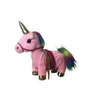 Sy Trading Inc My First Pony, Walk Along Toy Stuffed Plush Pony Toy, Realistic Walking Actions With Unicorn Sounds And Music (Pink)