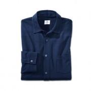 Sunspel pima-piqué-overhemd, 54/56 - marine