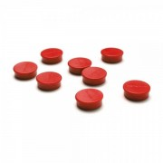Jansen Display Set magnetů průmer 20mm, 8ks, černé červená