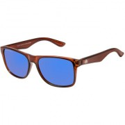 David Blake Blue Polarized UV Protected Mirrored Wayfarer Sunglass