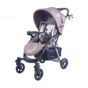 Mama Kiddies Light4 Go Sport babakocsi barna-bézs színben + Lábzsák + Ajándék