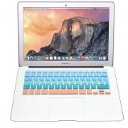 Case Carcasa + Protector De Teclado / Pantalla / Trackpad / Magic Mouse Cover Para Macbook Pro 13'' Touch Bar Model (A1706) -Azul Naranja
