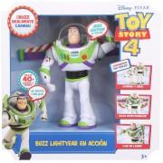 Toy Story 4 Buzz Lightyear en accion, camina, 40 frases en español