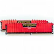 CORSAIR Vengeance LPX 16GB (2 x 8GB) DDR4 DRAM 3000MHz C15 Memory Kit - Red CMK16GX4M2B3000C15R
