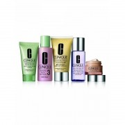 Clinique Daily Essentials Set Combination-Oily Skin 50 ml + 15 ml + 30 ml + 60 ml + 50 ml Cleansing Kit