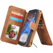 Capa Tipo Carteira Multifuncional Caseme para Samsung Galaxy S7 Edge - Castanho