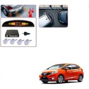 Auto Addict Car Silver Reverse Parking Sensor With LED Display For Honda New Jazz