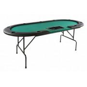 Póker asztal BLACK JACK 9+1 személyes - zöld
