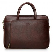 The Clownfish Dual Tone Maroon Black Leather Tablet Bag and Laptop Bag for 15.6 inch Laptop screen -Macbook Pro, Macbook Air Laptop Bag