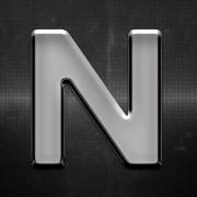 Krómozott betű N 27x27mm 20114