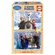 Educa Disney Jégvarázs fa puzzle, 2x50 darabos
