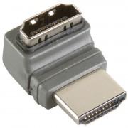 Bandridge High Speed HDMI met Ethernet Adapter 270 Gehoekt HDMI-Connector - HDMI Female Grijs