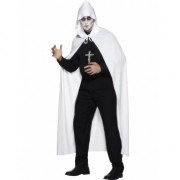 Smiffys Witte clan cape 119 cm lang