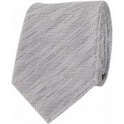 Krawatte Seide Grau Meliert Struktur - Grau