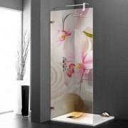 stickers folies Stickers Paroi de douche semi translucide orchidée rose