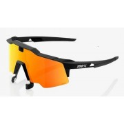 Ride 100% Speedcraft Air - Black/Red Multilayer Mirror Lens + Clear Lens
