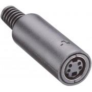 Conector mamă mini-DIN, drept, 4 pini, MJ-372/4 Lumberg