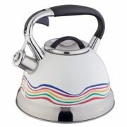 Свирещ чайник Oliver Brown OB 1220 B, 3 литра, Променящ цвета си при завиране, Индукция, Инокс