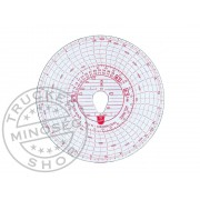 Tachográf korong 125 Km / h 1napos fordulatszámmérős (BLU11)