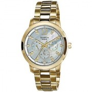 Casio Sheen Analog White Dial Womens Watch - She-3802Gd-7Adr (Sx050)