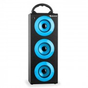 Auna Beachboy XXL Bluetooth-Lautsprecher USB SD AUX UKW Akku blau