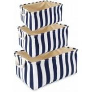 MeRaYo 26B Eco-Friendly Cloth Storage Basket Bin Organizer Set (Pack of 3) MSH0026B(Multicolor)