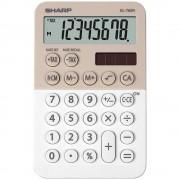 Calculator de buzunar, 8 digits, 119 x 75 x 17 mm, dual power, SHARP EL-760R-LA - bej/alb