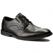 Обувки CLARKS - Prangley Walk 261232547 Black Leather