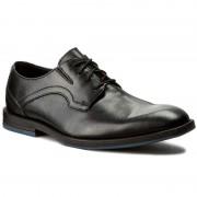 Обувки CLARKS - Prangley Walk 261232547 Black Leather