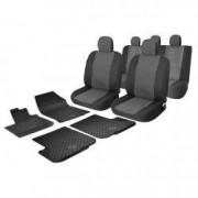Pachet Promotional huse auto + covorase din cauciuc Dacia Logan 2 2012- AUTO