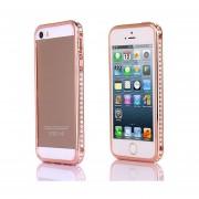 Funda Para Iphone 5/5S Con Cristales - Rosa Roja