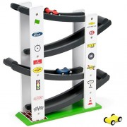 Stock Car Ramp Racers Playset, Wooden Racing Track Toy Includes 3 Colorful Mini Race Car Vehicles by Imagination Generation