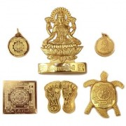only4you Shri Dhan Laxmi Yantra God Plated Laxmi Yantra - 6 pcs Laxmi Yantra