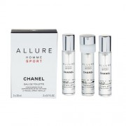Chanel Allure Homme Sport 3x 20 ml eau de toilette Пълнител 20 ml за мъже