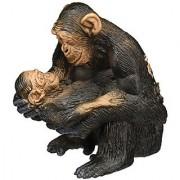 Schleich Chimpanzee Female with Baby Toy Figure