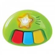 Minipian pentru bebelusi, 13.5 x 10 cm, 3 taste, Multicolor