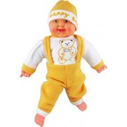 Kajal Toys™ 54 cm Baby Musical and Laughing Boy Doll Stuffed Toys,Touch Sensors with Sound,(Cream)