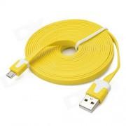 Kabl USB 2.0 na microUSB M/M žuti Linkom, 1m