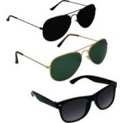 SPY RAYS COLLECTION Aviator, Wayfarer, Aviator Sunglasses(Green, Black, Black)