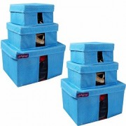 PrettyKrafts Storage Combo Pack of 6 Blue/Organizer/Storage Box/Toys Storage Box/Books Storage Box