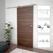 vidaXL Механизъм за плъзгаща врата 183 см неръждаема стомана сребрист