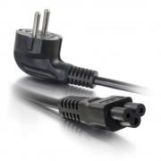 C2G Laptop Power Cord - Cabo de alimentação - IEC 60320 C5 para CEE 7/7 (M) - AC 250 V - 3 m - moldado - preto - Europa