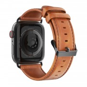 DUX DUCIS Business Genuine Leather Watch Strap for Apple Watch Series 4 44mm / Series 3 2 1 42mm - Brown
