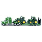 SIKU Farmer - Tractor cu încărcător scăzut și tractoare John Deere, scara 1:87
