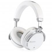Bluedio T4S auriculares HiFi activo Cancelación de ruido sobre la oreja giratoria auriculares inalámbricos Bluetooth 4,2 Bajo Extra carga rápida(Blanca)