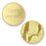 Mi Moneda NYC-02 Del Mundo - New York goudkleurig Large