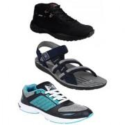 Chevit Men's Multicolor Running Shoes (Pack Of 3)