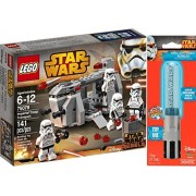 Bundle 3 Items LEGO Star Wars Imperial Troop Transport 75078 with/ Rare Luke Skywalker Lightsaber & Star Wars Stickers