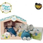 Meiya & Alvin - Alvin Elephant teether Mini Set Cadou Deluxe Book